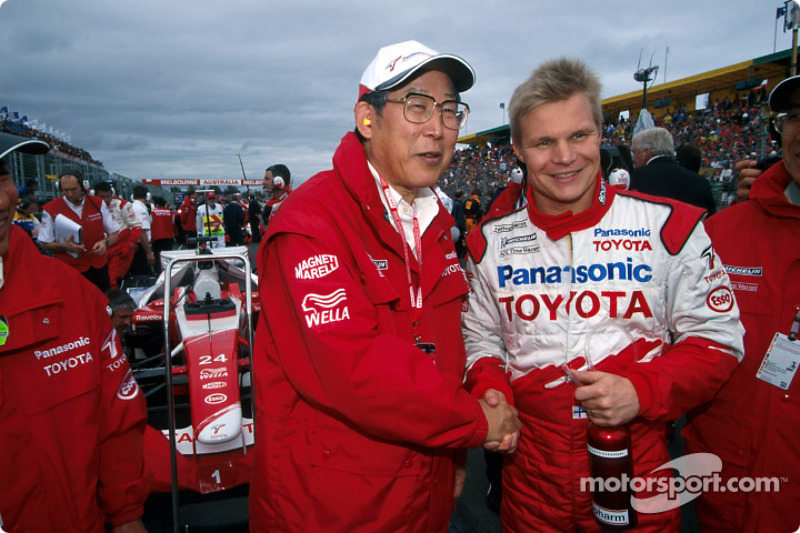 Mr. Okuda and Mika Salo
