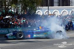 Petronas day in Kuantan, Malaysia: demo of Formula 1 racing with the Sauber Petronas C21 on the main