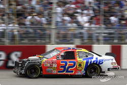 Polesitter Ricky Craven was involved in an accident early in the race and returned to the action after temporary repairs were made to the Tide Ford Taurus