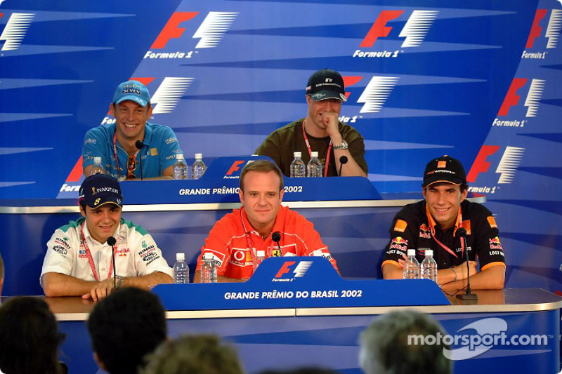 Thursday press conference: Felipe Massa, Rubens Barrichello and Enrique Bernoldi at the front, and J