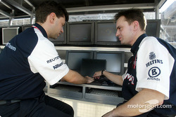 Williams F1 engineers