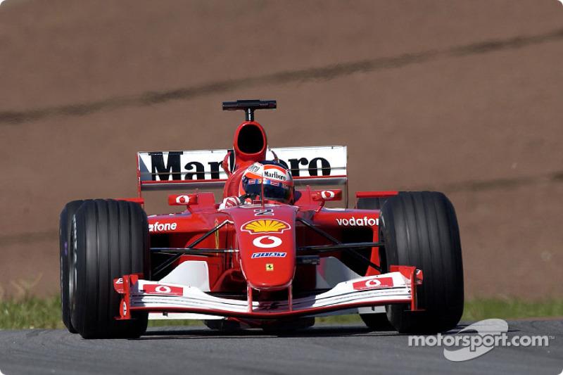 Rubens Barrichello in the warmup session