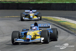 Jarno Trulli and Jenson Button