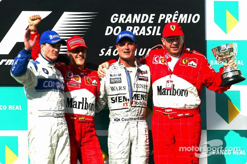 2002: 1. Михаэль Шумахер, 2. Ральф Шумахер, 3. Дэвид Култхард
