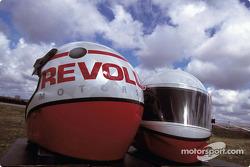 New Revolution Motorsports crew helmets