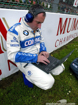 BMW engineer on the stating grid