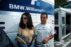 Juan Pablo Montoya and his fiancée