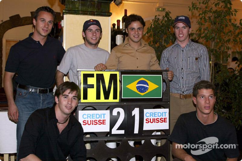 Felipe Massa y sus invitados brasileños