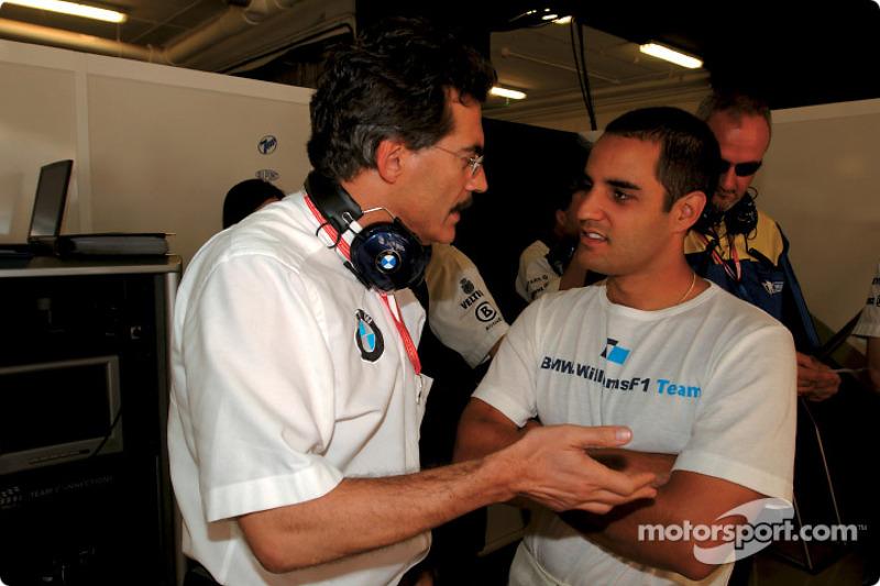 Dr Mario Theissen and Juan Pablo Montoya