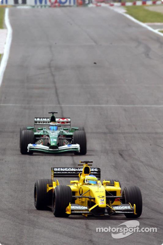 Giancarlo Fisichella y Eddie Irvine