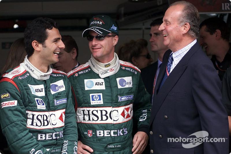 Pedro de la Rosa, Eddie Irvine y el Rey Juan Carlos