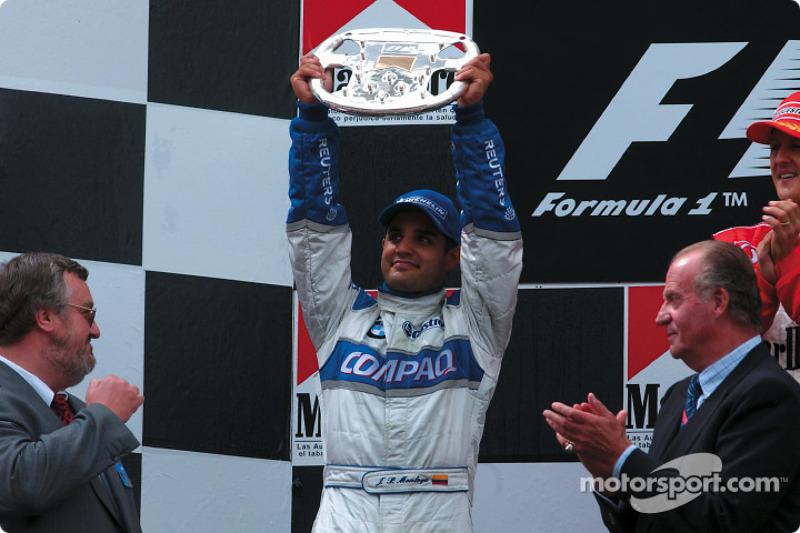Juan Pablo Montoya sur le podium