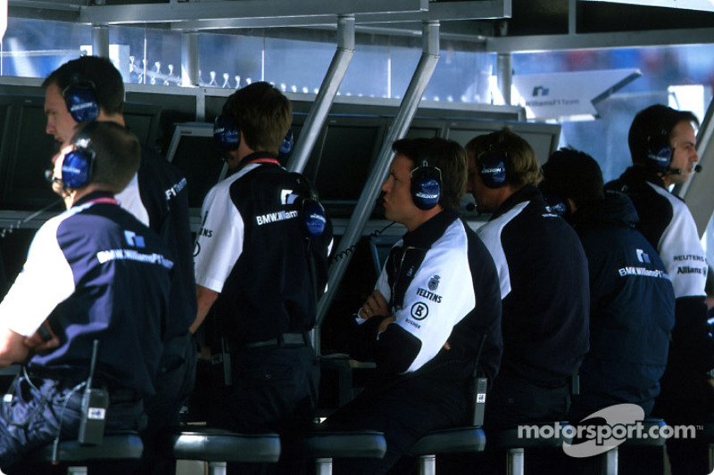 Muro de pits de Williams-BMW