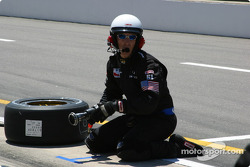 Cheever Indy Racing crew member