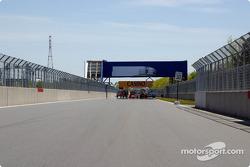 Gilles Villeneuve pistinde hazırlık