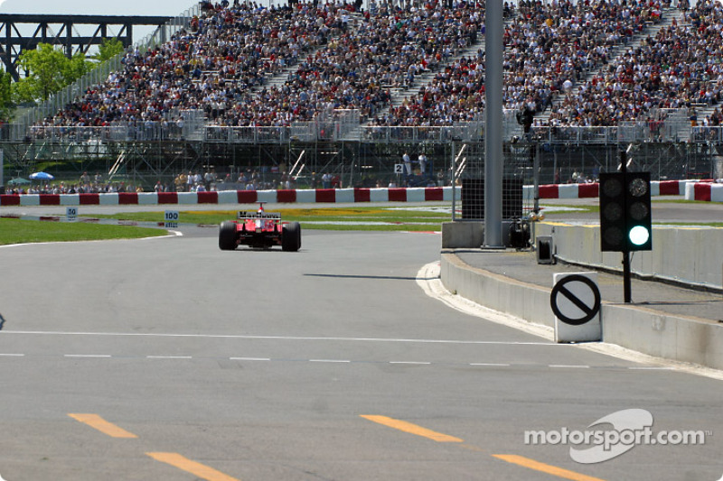 Michael Schumacher going out on the track