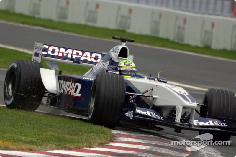 Ralf Schumacher working hard