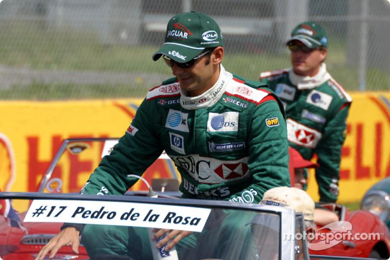 Drivers' parade: Pedro de la Rosa