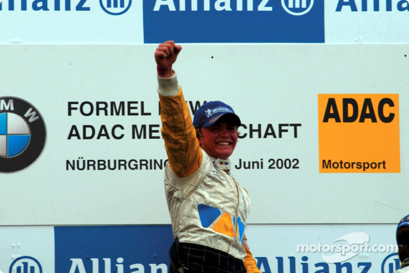 Nico Rosberg, winner of the second heat of the BMW ADAC Championship race