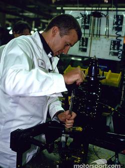 Visit of the Swindon Honda factory to celebrate the 500,000 Honda Civic: Olivier Panis