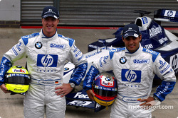 Presentation of the new HP livery on the Williams-BMW: Ralf Schumacher and Juan Pablo Montoya