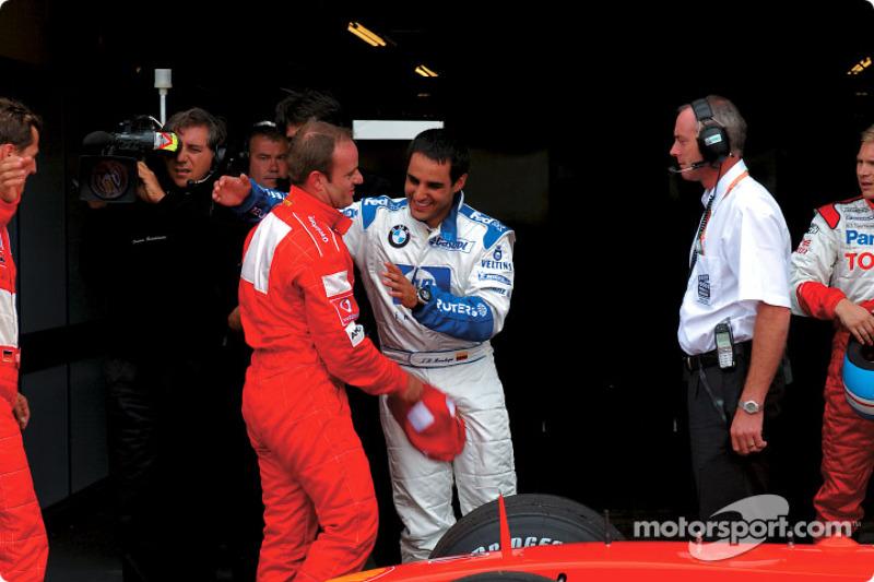 Rubens Barrichello et Juan Pablo Montoya