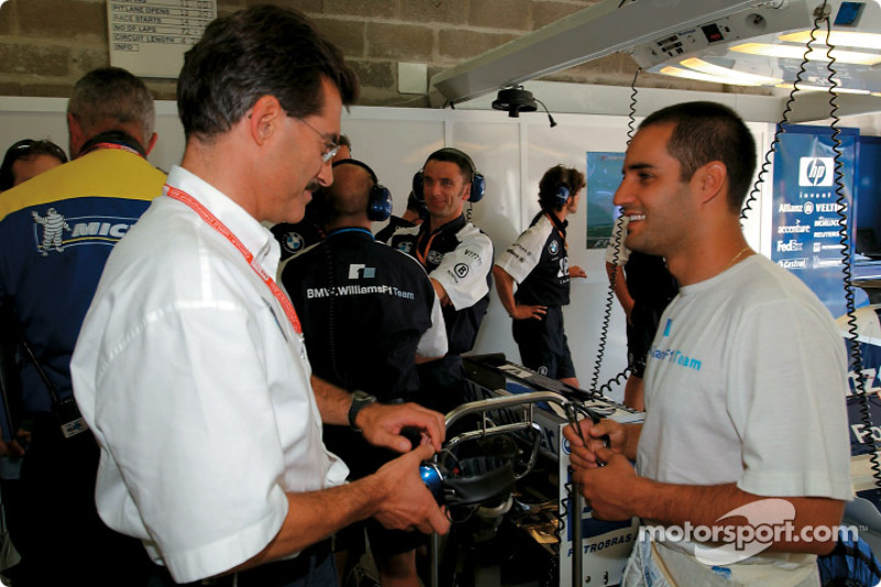 Juan Pablo Montoya and Dr. Mario Theissen