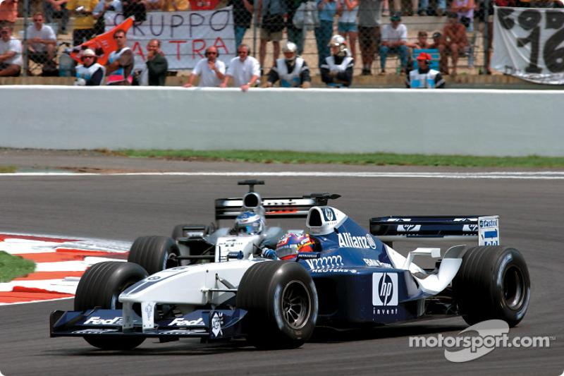 Juan Pablo Montoya and Kimi Raikkonen