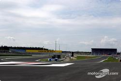 La parte rediseñada en el circuito del Gran Premio de Hockenheim: la nueva horquilla