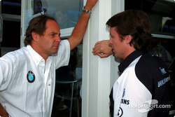 BMW Motorsport Director Gerhard Berger with Sam Michael