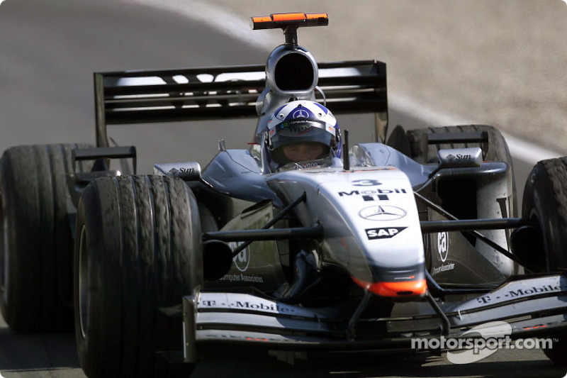 David Coulthard tras la carrera