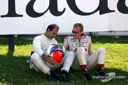 Emanuele Pirro and Johnny Herbert relaxing before the start