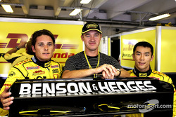 Giancarlo Fisichella, snooker legend Stephen Hendry and Takuma Sato