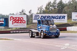 Super truck drifting through turn 10