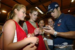 Visit at the Malmedy Handball Club and the Badminton Club de Malmedy: Felipe Massa