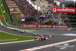 Eau Rouge: Michael Schumacher leading the field