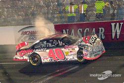 Sterling Marlin's car still steaming