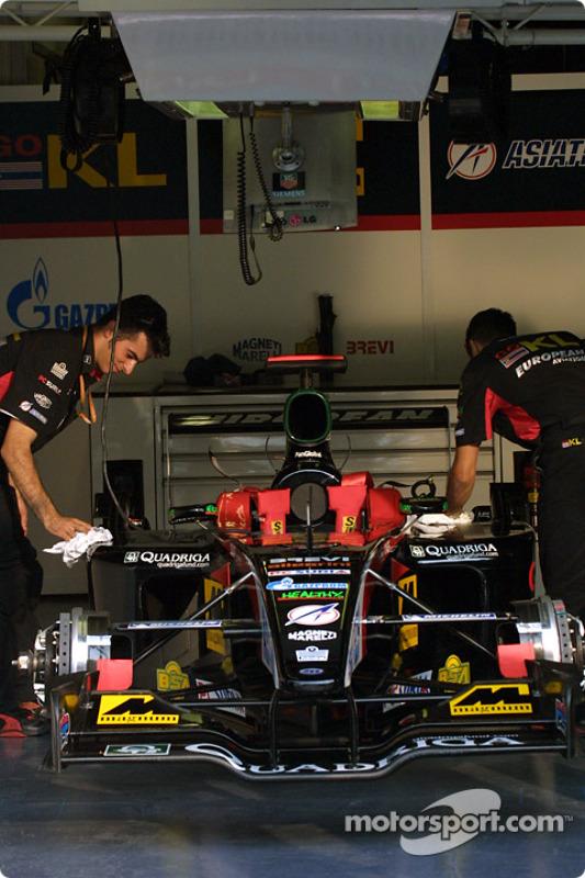Minardi pit area