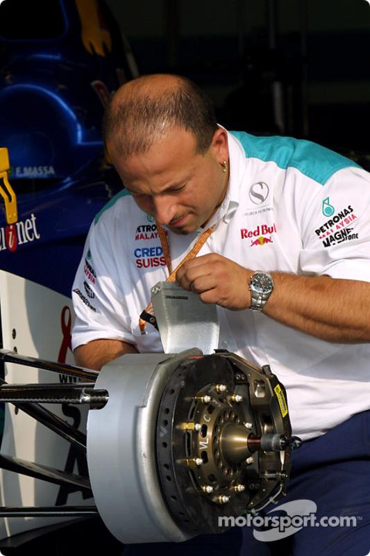 Sauber crew member