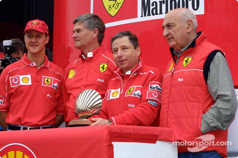Shell presentation: Jean Todt and Michael Schumacher