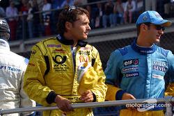 Desfile de pilotos: Giancarlo Fisichella y Jarno Trulli
