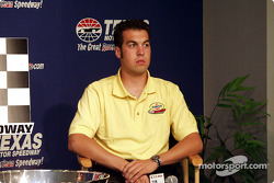 Sam Hornish thinks about his response.