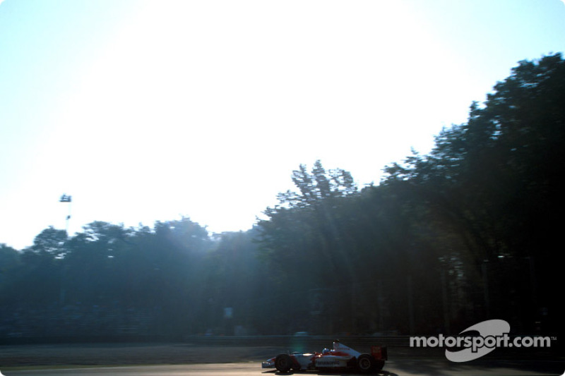 Mika Salo during the morning warmup