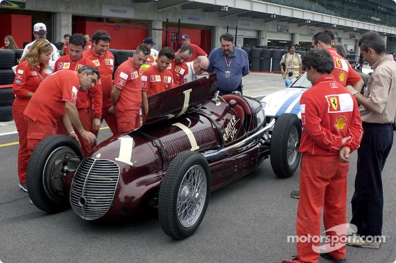 Maserati 8CTF y el Equipo Ferrari