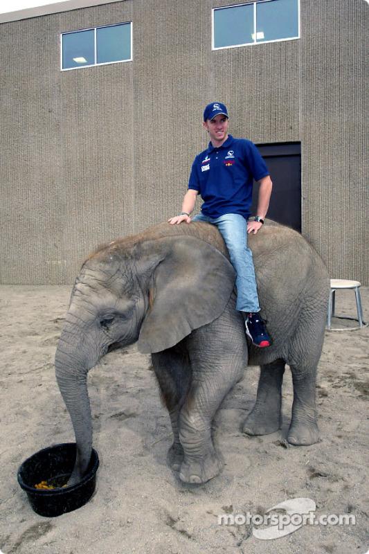 Visit of the Indianapolis Zoo: Nick Heidfeld