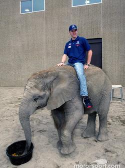Visita al Zoológico de Indianapolis: Nick Heidfeld