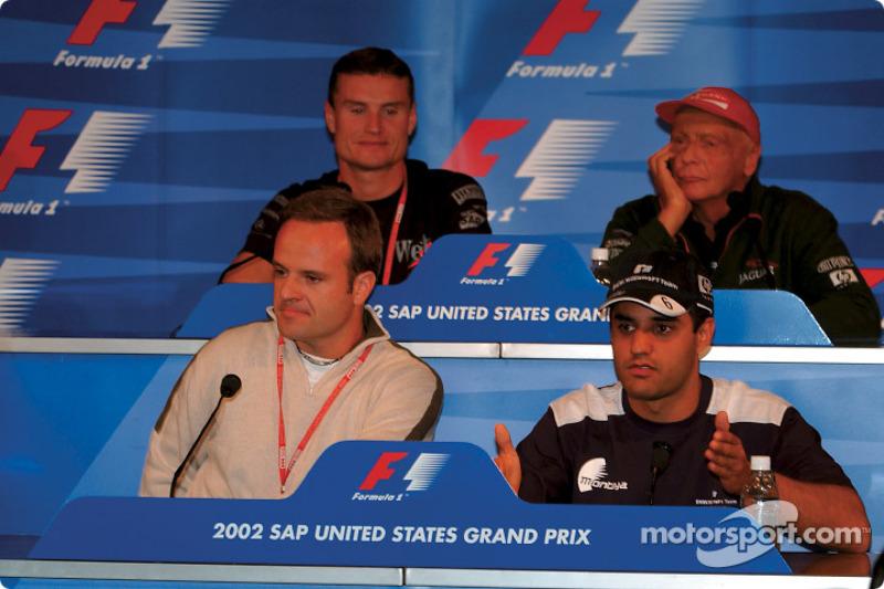 FIA Thursday press conference: Rubens Barrichello, Juan Pablo Montoya, David Coulthard and Niki Laud