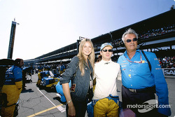 German supermodel Heidi Klum with Jarno Trulli and Flavio Briatore