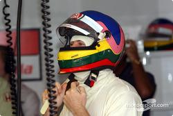 Jacques Villeneuve gets ready