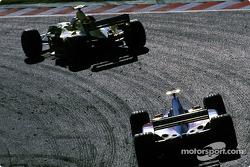 Giancarlo Fisichella and Mika Salo